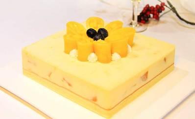 芒果花语慕斯蛋糕