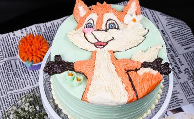 韩式裱花刺绣蛋糕