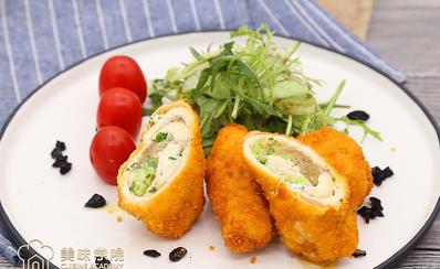 黄油鸡卷配蔬菜沙拉